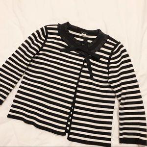 J. Crew Bow Pleat Collar Sweater Blazer